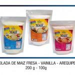 Colada de Maíz Fresa - Vainilla - Arequipe: 200g - 100g