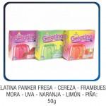 Gelatina Panker Fresa - Cereza - Frambuesa - Mora - Uva - Naranja - Limón - Piña:  50g